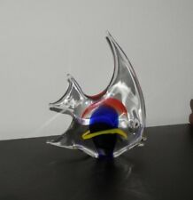 "Vintage Art Glass - PETR SKLO - Czech Glass Big FISH Signed on glass 9 6/8"" x 8"""