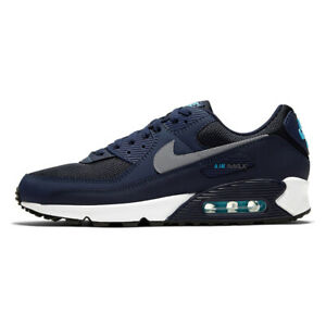 Air Max 90 Mens Navy Blue Classic Trainers Sneaker Sports Running Shoes