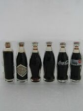 6 Pack Coca-Cola 3 inch Glass Bottle set made for the Collectors Club