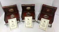 (NO COIN) 2011 2012 2013 American Buffalo 1oz $50 Gold Proof Box w/ Cap & COA