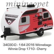 GREENLIGHT 34030 D HITCHED HOMES 3 2016 WINNEBAGO WINNIE DROP 1710 1/64 CHERRY