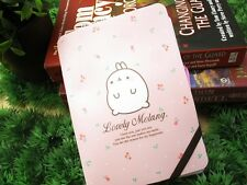 MOLANG Lovely Cute rabbit Bunny  Necklace Notebook - Pink Flower