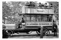 pt2607 - Early Motor Bus , Liverpool , Lancashire - photograph 6x4
