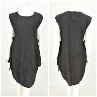 Womens The Masai Black Lagenlook Tunic Dress Cotton Blend Sleeveless Size M