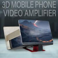 """8"""" Loupe d'écran de téléphone portable Amplificateur vidéo 3D HD Support de s UV"""