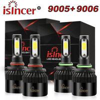4PCS 9005 9006 LED Headlight Kit Combo Total 2800W 390000LM High Low Beam 6000K