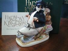 Harmony Kingdom Easy Slider Snowman Couple on Snow Machine Box Figurine Nib