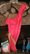 Women's Dress Size M Pink One-Shoulder Pretty Belt Gorgeous Color Cute Style