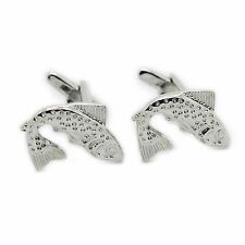 Stainless Steel Fish Cufflinks - Free Shipping