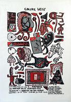 """DDR-Kunst. """"Galerie Weise"""", 1990. Plakat Frieder HEINZE (*1950 D), handsigniert"""