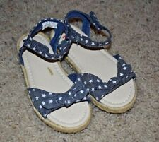 Baby Gap Girl's Spr.'17 Chambray Star Espadrille Sandals Shoes 9 Toddler NWT