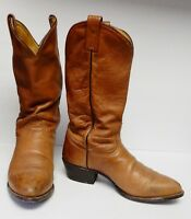 TONY LAMA Men's Leather Boots Western Cowboy Brown Camel USA Size 9 EE Vintage