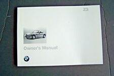 1998 bmw z3 roadster coupe Owners Manual E36 parts 3 Series new original 1.9 2.8