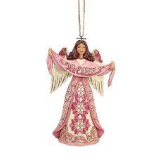 Jim Shore HWC 2018 Hope Breast Cancer Awareness Angel Ornament #6002869 NIB