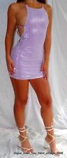 MOTEL@TOPSHOP Lila Lentejuelas correa de cruz Bodycon vestido tamaño de Reino Unido 8 (XS)