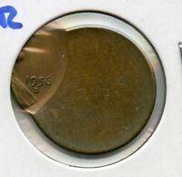 1956-D Lincoln Wheat Cent Penny - Off-Center Error Coin - Denver - RW845