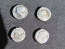 RARE Lot 4 SILVER-ANCIENT INDIA-KSHATRAPA Drachm coins