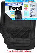 Streetwize Heavy Duty Premium Tailored Carpet Rubber Car Floor Mats FORD