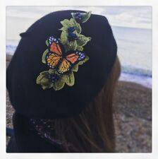 ce7dbf76fd375 Unique Vintage Christmas Gift Beret Handmade Retro embroidered chic  statement