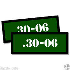 30-06 Ammo Can Stickers 2x Ammunition Case Labels GREEN Decals 2 pack