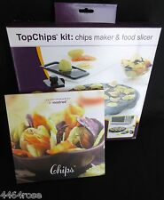"MASTRAD ""TOPCHIPS"" KIT MAKES FAT FREE CHIPS IN 3MIN. INCL. RECIPE BOOK, BOTH NEW"