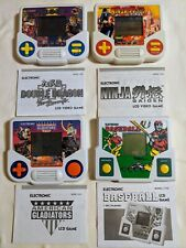 Lot of 4 Vintage Tiger Electronic Handheld Games Tested & Working! Double Dragon