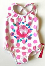 Seafolly Roses Are Pink Swimsuit 6-12 Months NWT Retails $56 Price $24
