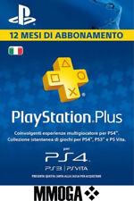 PLAYSTATION PLUS Abbonamento 12 Mesi 365 GIORNI 1 anno PSN PS4 PS3 PS Vita - IT