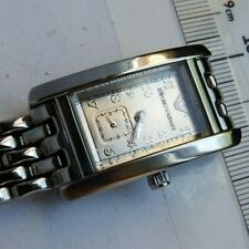 USED ARMANI AR-0107LADIES ALL STAINLESS STEEL BRACELET WATCH.CHAMPAGNE DIAL.GWO.