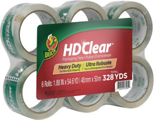 Duck Hd Clear Heavy Duty Packing Tape 188 X 546 Yds 6 Pack 441962