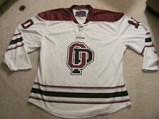 New Mens Size Xl Ccm Op White With Maroon & Black Ice Hockeyjersey # 10 Roller