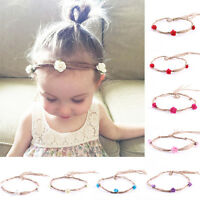 Sweet Newborn Baby Girls Toddler Kids Flower Crown Headband Hairband Photo Prop
