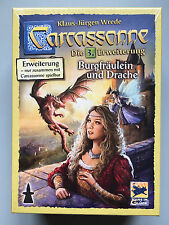 Carcassonne Expansion - Princess & Dragon New Edition, New with English Rules