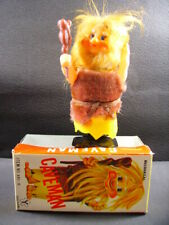 "Yonezawa "" caveman "" wind-up mechanical tin toy ( yone made in Japan) + box"
