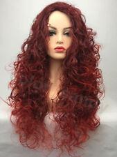 60cm Perücke Trend Täglich Gewellt Gelockt Cosplay Wig Wie Echthaar Kuperrot+Rot