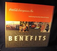 "Coca-cola Coke HR Employee Benefits three ring binder 2"" empty a3"