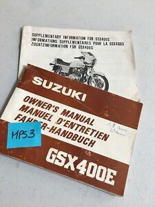 Suzuki GSX400E GSX400 GSX 400 Manual Mantenimiento Conductor Propietario Moto
