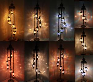 3/5/7/9 Glass Turkish Moroccan Colourful Handmade Mosaic Light Floor Lamp