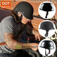 DOT Motorcycle German Half Face Helmet Chopper Cruiser Biker Scooter M/L/XL 2019
