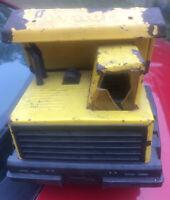 Vintage Yellow Tonka Metal Dump Truck Turbo Diesel
