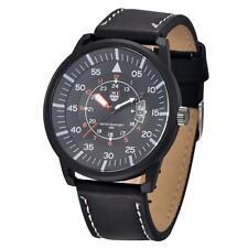Sale Men Leather Date Stainless Steel Watch Quartz Analog Business Wrist Watch