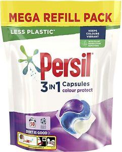 Persil 3 in 1 Colour Protect keeps colours vibrant Laundry Washing Capsules mega