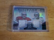 """2015 SPECTRA """"RIVALS"""" TROY AIKMAN & STEVE YOUNG  DUAL JERSEY CARD #51/99"""