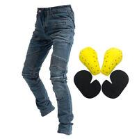 Cotone Jeans Da Uomo In Sella Per Moto Pantaloni Da Corsa Fly Resistance Blu S