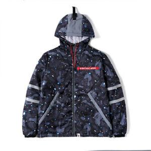 Men's Bape Warm Cotton Coat Hoodie Jacket Outwear A Bathing Ape Hot Starry Sky