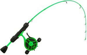 """13 Fishing RP2-27L-LH Radioactive Pickle Ice Rod & Reel Combo - 27"""" - Left Hand"""