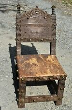 Antique Royal African Ashanti Asipim Akan Chief Throne Chair From Ghana, Africa