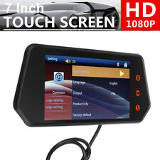 Car SUV 7inch 1080P Touch Screen Rearview Mirror Monitor Bluetooth FM MP5 Player