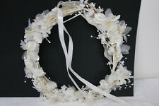 Women Bridal Wedding Party Crown Hair Band White Butterfly Flower Pearl Headband