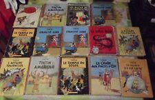 14 Ancien Albums Tintin Eo en Amérique Objectif Lune les Bijoux de la Castafiore